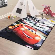 disney cars digital printed hd lightning mcqueen area rug multicolor 40 x 54 for
