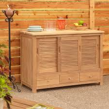 48 touraine teak outdoor kitchen cabinet outdoor regarding outdoor kitchen storage