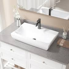 rectangular sink bathroom. vitreous china rectangular vessel bathroom sink with faucet