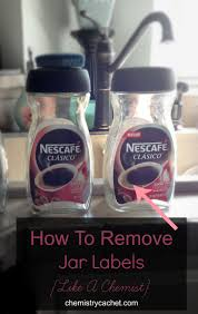 how to remove jar labels as easily as a chemist in a lab all with