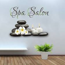 spa salon wall decals full color