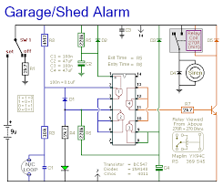 shed garage alarm circuit diagram circuit diagram for a battery powered alarm project