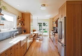 mid century modern galley kitchen. Galley-style Kitchen With Wooden Furniture Mid Century Modern Galley