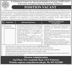 us center for advanced studies in energy jobs us center for advanced studies in energy jobs university of engineering technology peshawar jobs dawn jobs ads 05 2017