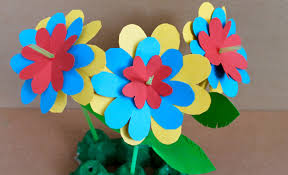 Easy Paper Flower Easy Paper Craft How To Make Paper Flowers Youtube