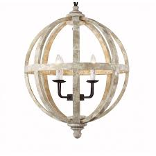 24 vintage french country 6 light pendant chandelier rustic iron frame globe shadeceiling lights