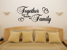 1pc bedroom wall stickers decor infinity symbol word love vinyl art on wall art stickers quotes next with fashion english together we make a family with hearts bedroom living