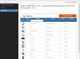 shopping cart web creating asp net core angular2 shopping cart using web api and ef 1 0 1