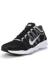 nike air zoom 2 gym trainers black white womens shoes