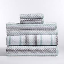 Caro Home Stripes 6 Piece Bath Towel in Carlyle 6PC1025T1302 The
