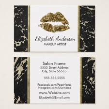 makeup artist gold lips modern black gold marble business card stylist business card business cards