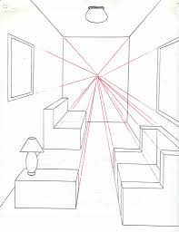Wonderful Picture Of How To Draw A Room Using One Point Perspective