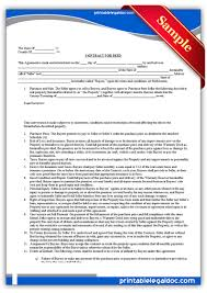 Free Printable Contracts Free Printable Contract For Deed Forms Template 21