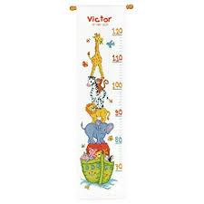 Ark Chart Amazon Com Vervaco Noahs Ark Height Chart Cross Stitch