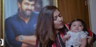 Meghana Raj introduces son Jr Chiranjeevi Sarja on Valentine's Day with a  adorable video | english.lokmat.com