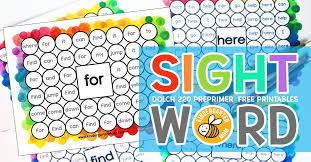 Free Sight Word Printables: Dab n' Dot -