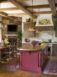 Country Kitchen Design Unique Rustic French Country KitchenLOVE This With Fireplace In The