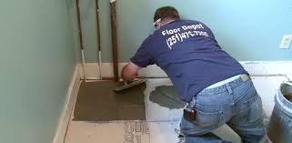 laying tile on cement backer board over a plywood suloor