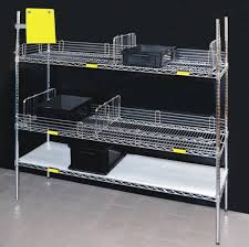 wire shelving solid conductive shelving in chrome plated steel resistant to rust ps and scratches this system allows an efficient air circulation