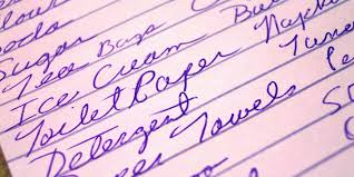 Typical Grocery List Use Grocery List To Save Time Eat Healthier Unl Food