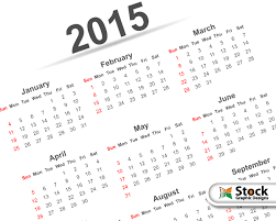 Simple Calendar Template 2015 Simple 2015 Calendar Template Vector Free Vector
