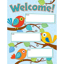 Calypso Welcome Chart By Carson Classroom Charts Design