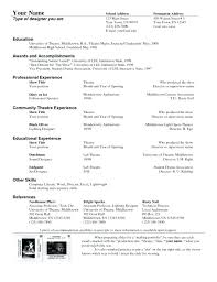 Acting Resume Template For Microsoft Word. Resume Template Acting ...