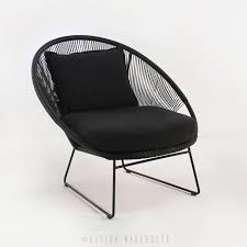 Natalie Outdoor Relaxing Lounge Chair (Black) - Relaxing Chairs - Relaxing