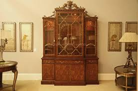 Chippendale China Cabinet French China Cabinet With Pierced Floral Carved Cornice