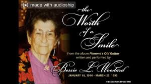 """The Worth of a Smile"""" by Bessie L. Woodard - YouTube"""