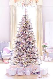 White-Christmas-tree-with-pink-and-purple-and-