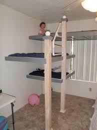 interior cream wooden bunk bed bedroom kids bed set cool bunk beds