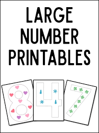number templates 1 10 large numeral printables and more prekinders