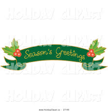 season ' s greetings banner clipart