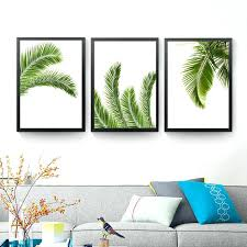 palm leaf canvas poster prints tropical plant on wall paintings modern home decor tree leaves wall art