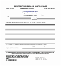 Free Construction Bid Proposal Template Download Free Construction Proposal Template Pdf Best Of Free Construction