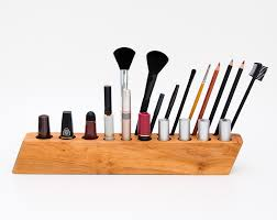 makeup organizer cosmetic wooden brush holder