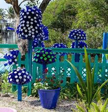 garden decorations ideas. Garden-decorating-ideas-diy-blue-glass-bottles Garden Decorations Ideas A