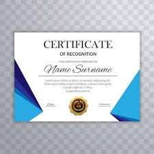 Certification Template Modern Certificate Template Background Vector Download Free Vector