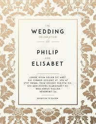 Vintage Wedding Invitation Vintage Wedding Invitation Template Modern Design Wedding