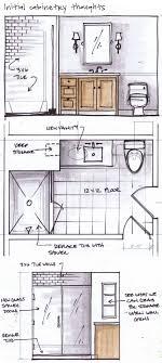 bathroom interior design sketches. Delighful Interior Kristina Crestin Design_ Project Sketches  Georgeu0027s Bathroom In Progress Throughout Interior Design S
