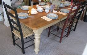 farm table vintage pine top french country