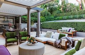 outdoor living room design