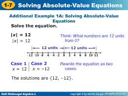 additional example 1a solving absolute value equations