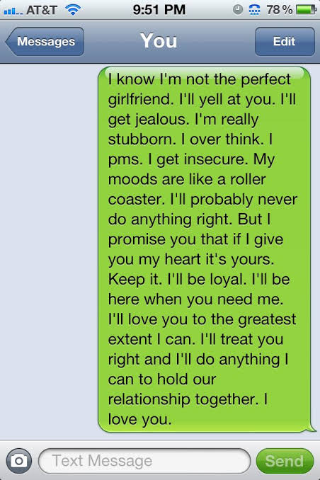 long messages to send to your girlfriend