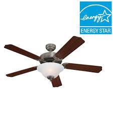 sea gull lighting quality max plus 52 in brushed nickel indoor ceiling fan