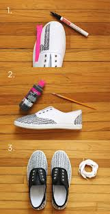 Diy Shoes Design Step By Step You Can Also Use Fabric Paint To Easily Fill In One Part Of