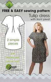 Easy Sewing Patterns For Beginners Impressive TULIP DRESS Free Sewing Pattern Full Figured Fashion Pinterest
