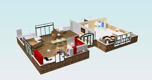 Captivating ... Sweet Home 3d Maison A Etage Impressionnant Plan 3d Maison 1 Etage ...