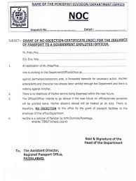 Grant Of No Objection Certificate Noc For The Issuance Of